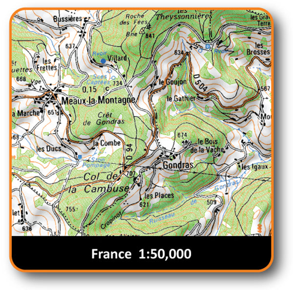 North East France 1:50k
