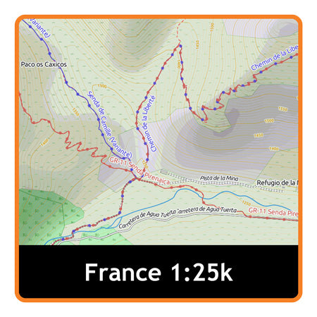 France South West Adventure Map 1:25k