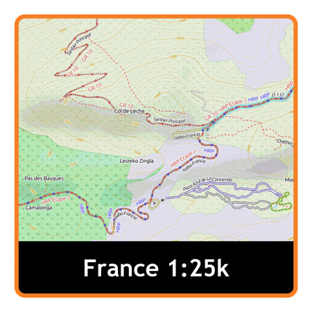 France South East Adventure Map 1:25k