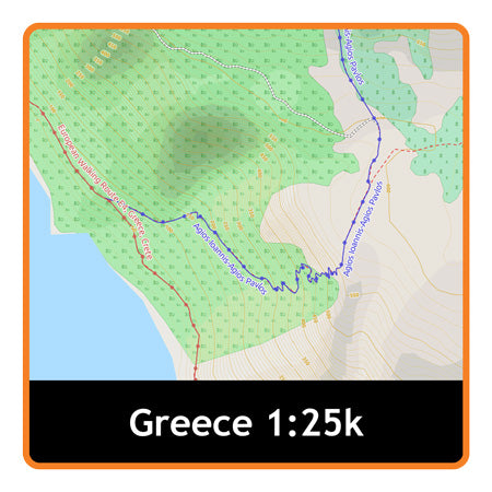 Greece Adventure Map 1:25k