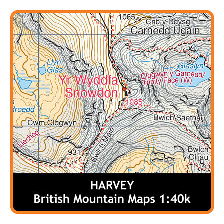 HARVEY Brecon Beacons 1:40k