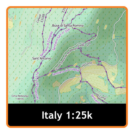 Italy South Adventure Map 1:25k