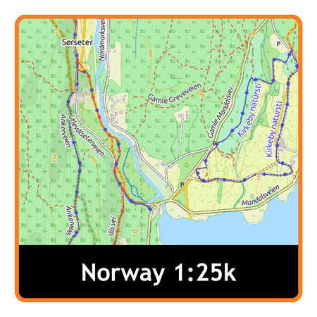 Norway Whole Adventure Map 1:25k