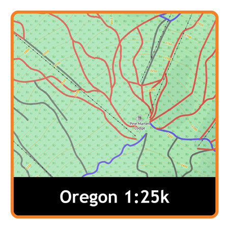 Oregon Adventure Map 1:25k