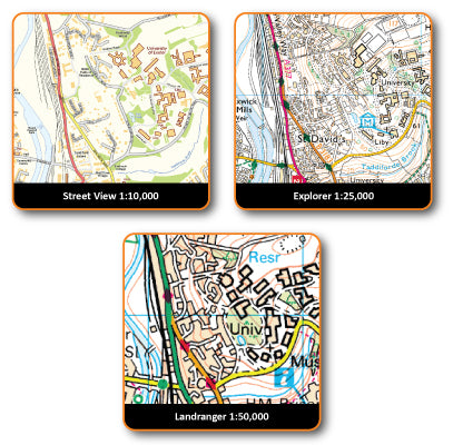 Satmap MapCard: Great Britain North Platinum (OS 1:10k, 25k & 50k)