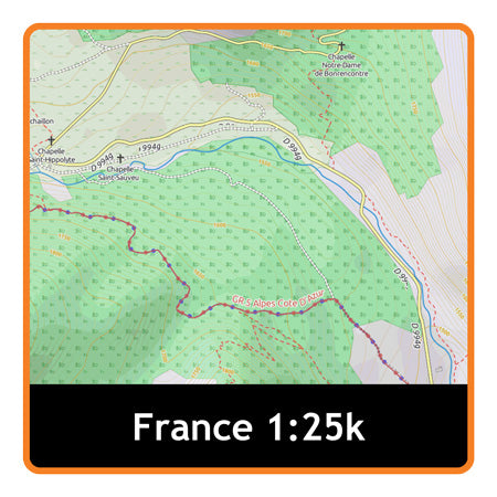 Satmap MapCard: North East (ADV 25k)