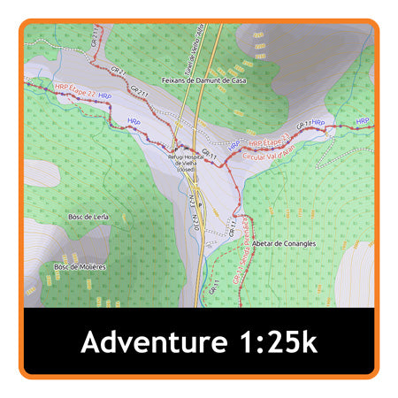 The Pyrenees Adventure Map 1:25k