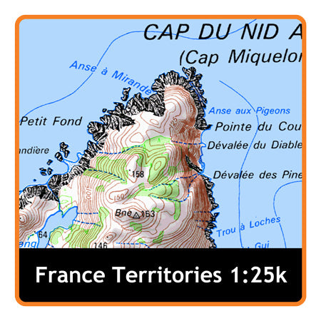 Saint Pierre and Miquelon 1:25k