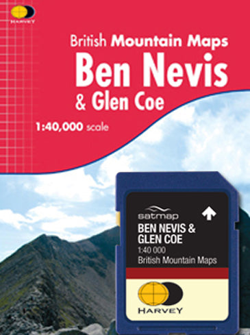 HARVEY Ben Nevis and Glen Coe 1:40k