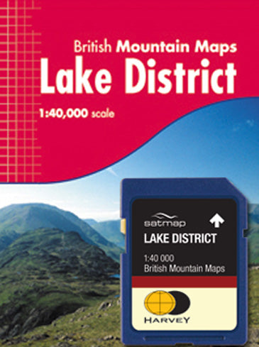 Satmap MapCard: Lake District (HARVEY MM 40k)