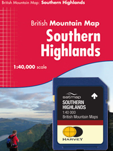 Satmap MapCard: Southern Highlands (HARVEY MM 40k)