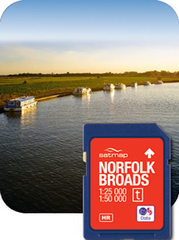 Satmap MapCard: The Norfolk Broads (OS 25k & 50k)