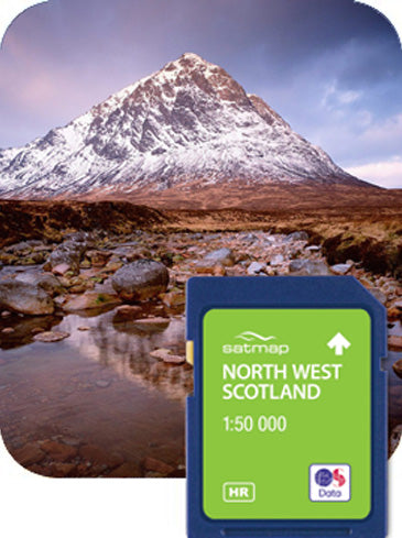 Satmap MapCard: North West Scotland (OS 50k)