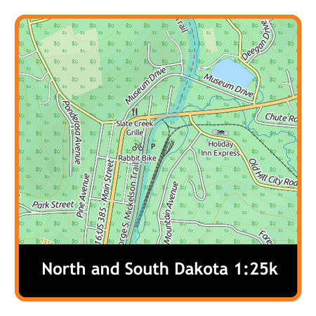 North and South Dakota Adventure Map 1:25k