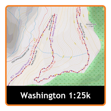 Washington Adventure Map 1:25k