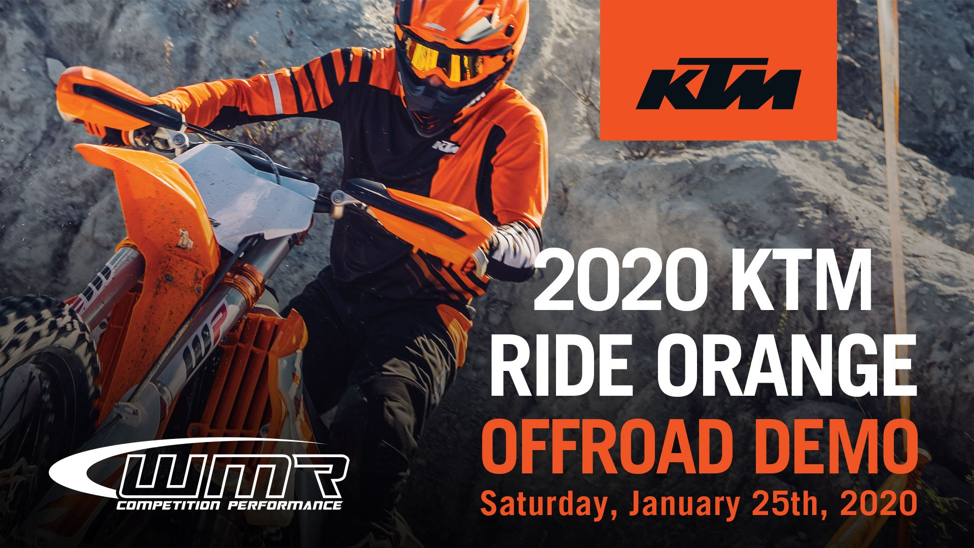 KTM Ride ORange Offroad Demo
