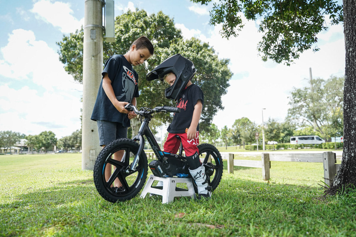 Learning how to ride a Stacyc e-bike
