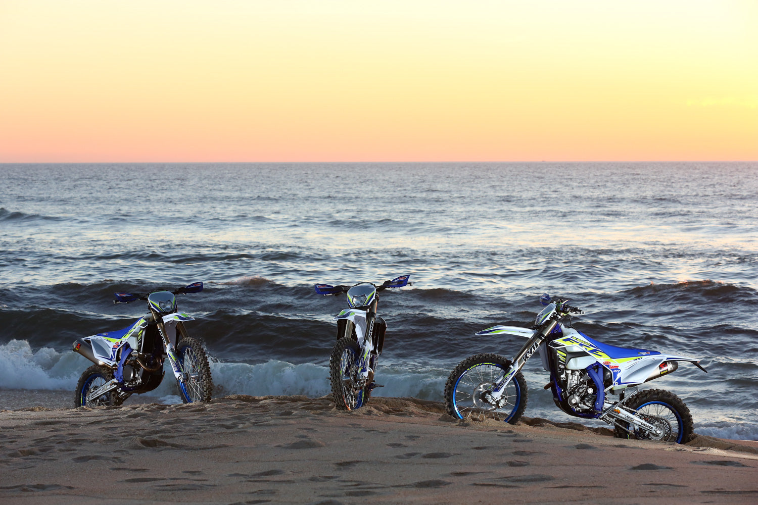 Sherco on the beach