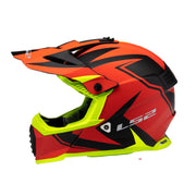 LS2 Gate Youth Launch Full Face MX Motorcycle Helmet Matte Hi Viz