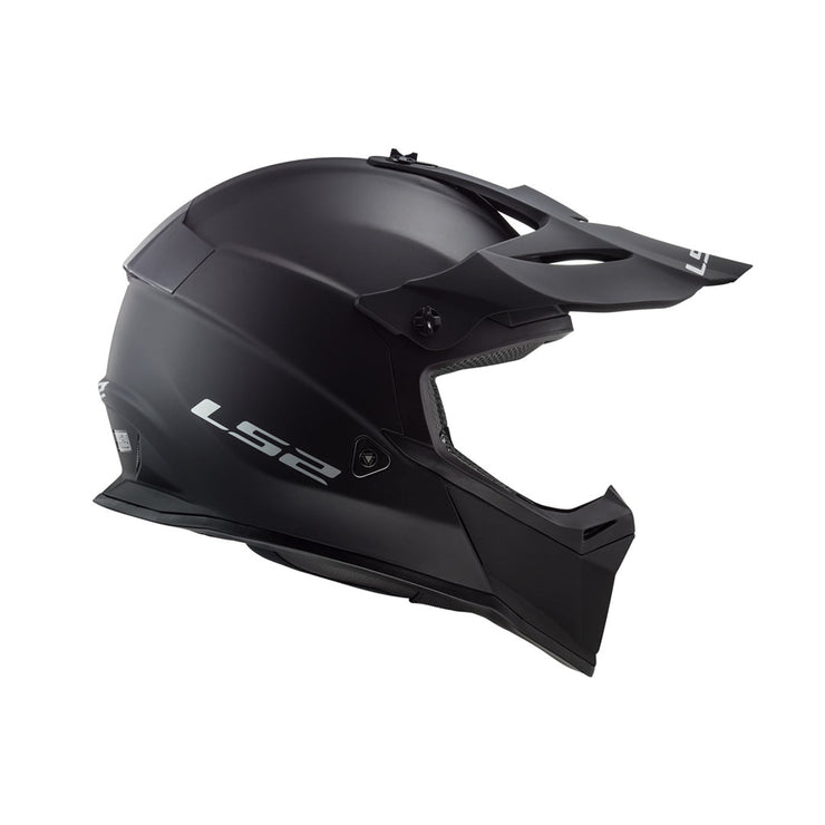 LS2 Gate Youth Launch Full Face MX Motorcycle Helmet Matte Black
