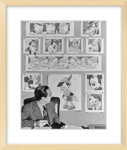 """Walt & Animated Characters"" from Disney Photo Archives"
