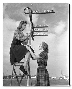 """Dopey Drive Sign Painters"" from Disney Photo Archives"