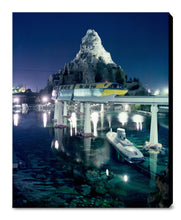 "Load image into Gallery viewer, ""Disneyland Matterhorn, Monorail and Submarine"" from Disney Photo Archives"