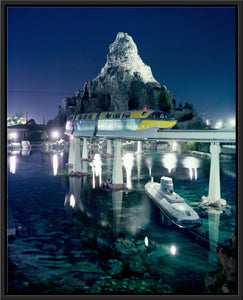 """Disneyland Matterhorn, Monorail and Submarine"" from Disney Photo Archives"