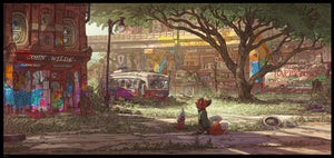 """Happy Town"" Zootopia Concept Art by Matthias Lechner"
