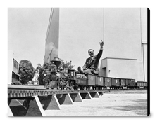 "Load image into Gallery viewer, ""Walt on Miniature Train"" from Disney Photo Archives"