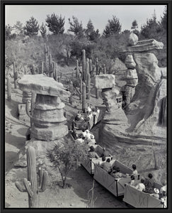 """Disneyland Mine Train - Balancing Rock Canyon"" from Disney Photo Archives"