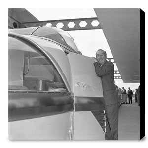 """Walt & the Monorail"" from Disney Photo Archives"
