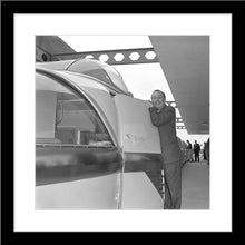 "Load image into Gallery viewer, ""Walt & the Monorail"" from Disney Photo Archives"