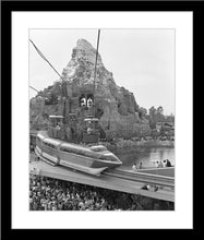 "Load image into Gallery viewer, ""Disneyland Matterhorn, Skyway, Monorail & Submarines"" from Disney Photo Archives"