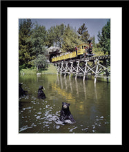 "Load image into Gallery viewer, ""Mine Train Through Nature's Wonderland Bears"" from Disney Photo Archives"