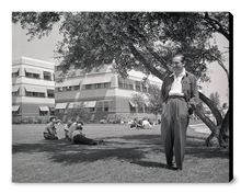 "Load image into Gallery viewer, ""Walt & Animation Building"" from Disney Photo Archives"