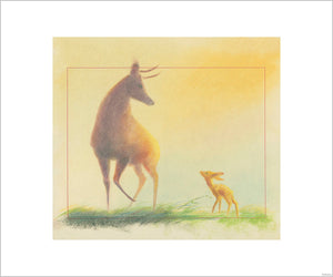 """Bambi Visual Development - 05003"" Concept Art by Tyrus Wong"
