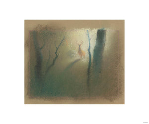 """Bambi Visual Development - 12"" Concept Art by Tyrus Wong"