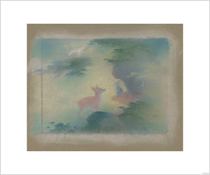 """Bambi Visual Development - 5""  Concept Art by Tyrus Wong"