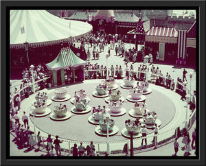 """Disneyland Mad Tea Party Color"" from Disney Photo Archives"