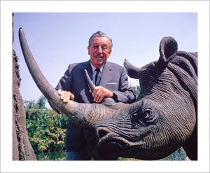 """Walt & Jungle Cruise Rhinoceros"" from Disney Photo Archives"