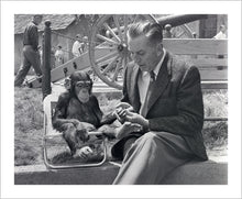 "Load image into Gallery viewer, ""Walt & Mr. Stubbs"" from Disney Photo Archives"