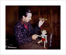 "Load image into Gallery viewer, ""Walt & Pinocchio Puppet"" from Disney Photo Archives"