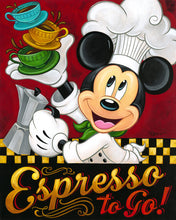 "Load image into Gallery viewer, ""Espresso to Go!"" by Tim Rogerson"
