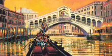 "Load image into Gallery viewer, ""Lights in the Venice Canal"" by Rodel Gonzalez"