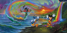 "Load image into Gallery viewer, ""Mickey and the Boys at Rainbow Falls"" by Jim Warren"