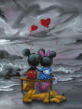 "Load image into Gallery viewer, ""Mickey and Minnie Forever Love"" by Jim Warren"
