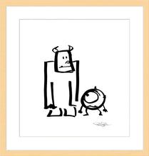 "Load image into Gallery viewer, ""Sullivan and Mike"" by Pete Docter"