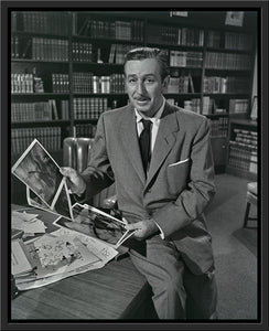 """Walt & Old Mill Art"" from Disney Photo Archives"