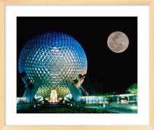 "Load image into Gallery viewer, ""Spaceship Earth and the Moon"" from Disney Photo Archives"